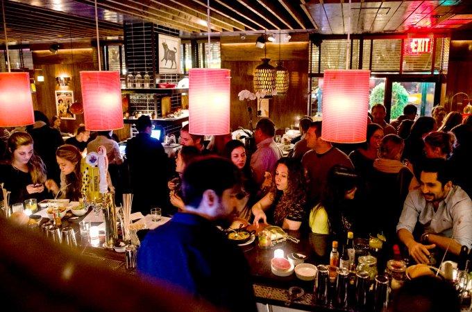 NEW YORK - December 8: Pulse - The bar at EL TORO BLANCO, 257 Sixth Ave in Manhattan. December 8, 2012. (Photo by Gabi Porter)